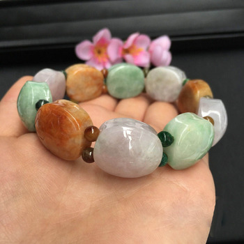Turtle shell gift Hand carved Grade A JADE Jadeite Beads Bangle Bracelet