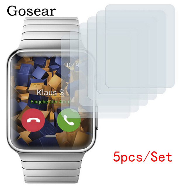 Gosear 5PCS Protective HD Screen Protector Guard Film for Apple Watch iWatch Series 1 38mm 42mm i Wach iWach protecteur pantalla