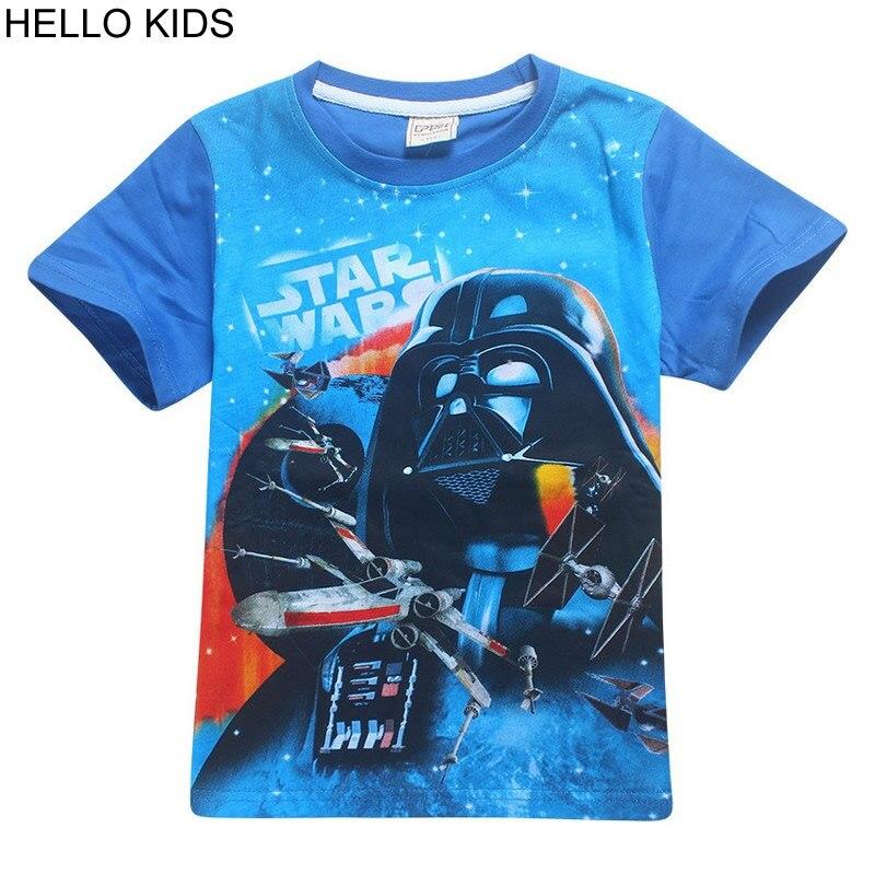 2018 Kids Summer Clothes Boys Girls T-shirt Star War Movie T-shirt Childrens Lightsaber Short sleeve T Shirts clothing