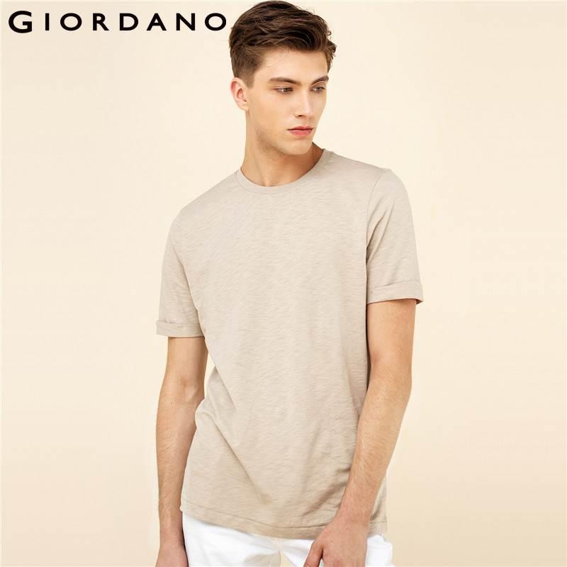 Pioneer Camp Men T Shirt New 2017 Cotton Simple Print: Giordano Men T Shirt Short Sleeves 2017 Cotton Tees Simple