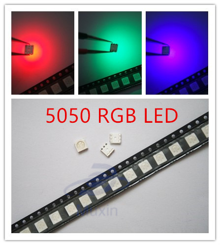 Nice 50pcs Smd5050 Led Smd 5050 Rgb Chip Led Plcc-6 Tricolor Red Green Blue Led Light Emitting Diode Lamp Smt Beads Orders Are Welcome. Back To Search Resultselectronic Components & Supplies