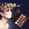 Mais novo 15 Cores Brilho Fosco sombra de Olho Paleta Da Sombra de Maquiagem Profissional Beleza Make up Set