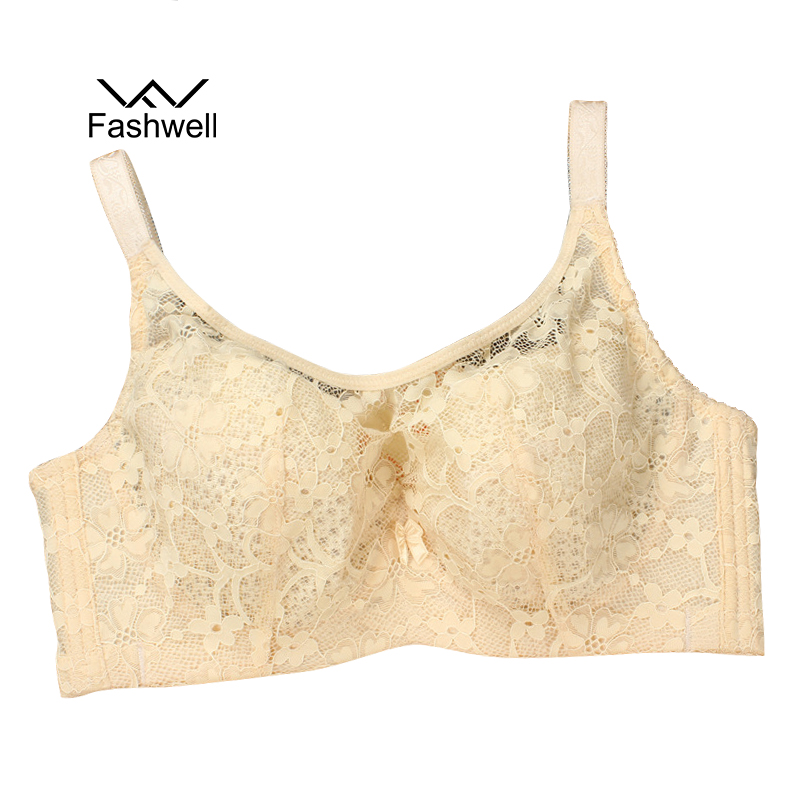 New summer Fashion Ladies Women Sexy Ultra-thin breathable Underwear bra solid Lace big size bandeau Bra