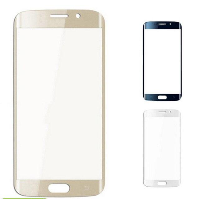 Новый Передний Экран Внешний Стеклянный Объектив экран Замена стекла для samsung S6 edge Черный и Белый и золотой Бесплатно доставка