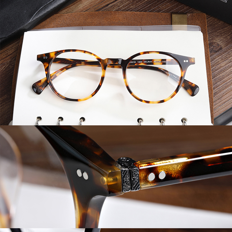 vantage ov5318 eyeglasses frames man and women big circular round eyeglasses oculos de grau prescription eyewear