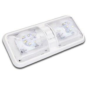 Image 3 - 12V RV Decke Dome Licht RV Innen Beleuchtung 48 Led 5050 für Boot Camper Anhänger Camper mit Schalter 6000 k 6500 k Klare Licht