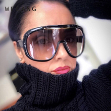 WFEANG New Sunglasses Women Oversized goggle Square Sun Glasses Brand Designer Men Shades UV400