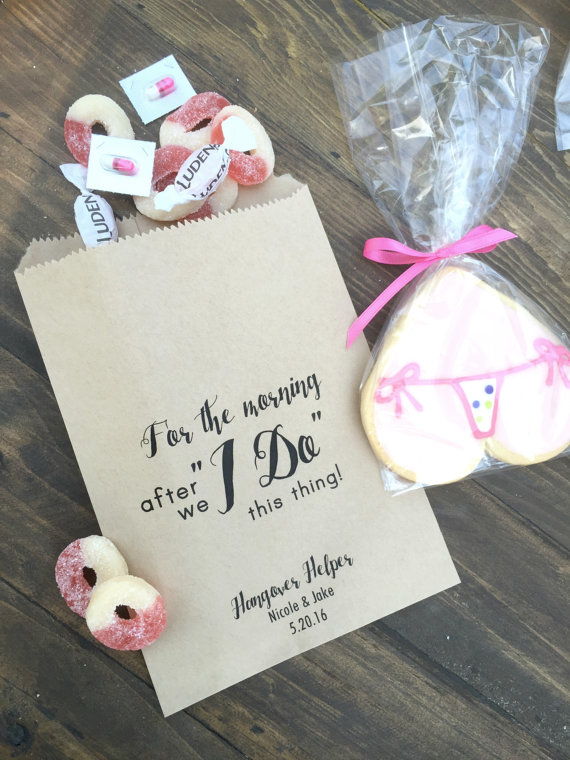 11b5cdc9070 personalized I DO Wedding Bridal baby Shower hangover kit Kraft Paper  Bakery Popcorn Cookie desserts gifts