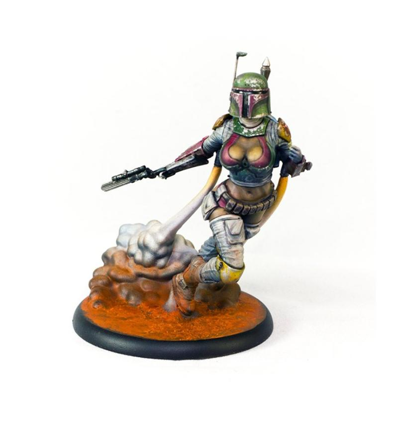 1/24 High 75mm General VIXEN HUNTER Knight 75mm With Base    Toy Resin Model Miniature Kit Figure Unassembly Unpainted