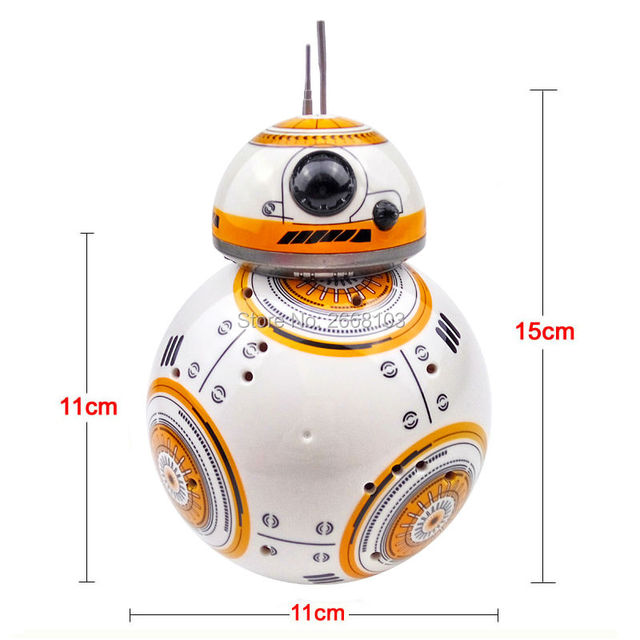New Version Upgrade Model Ball RC BB-8 Droid Robot BB8 Intelligent Robot 2.4G Remote Control Toy For Girl Gift With Sound Action 2