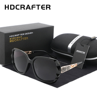 HDCRAFTER 2017 Luxury Women Brand Design Polarized Sunglasses Ladies Elegant Oversized Sun Glasses Female Prismatic Eyewear