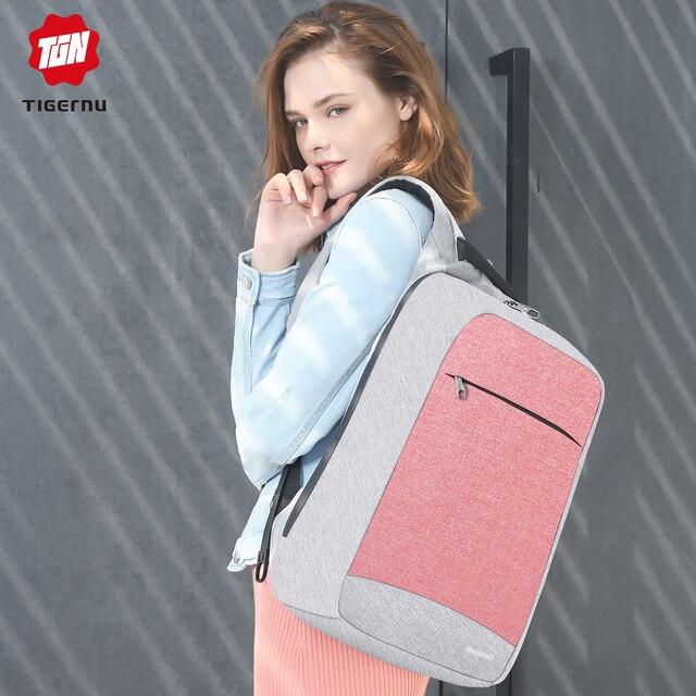 "Multi Fashion Female Feminina Mochila Pink 15.6"" Laptop Anti theft Backpacks Travel Women School Backpack for Girls Business Bag"