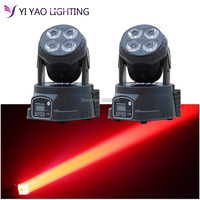 2pcs/lot Factory full color rgbw moving head 4x20W led DMX Wash dj stage light disco party