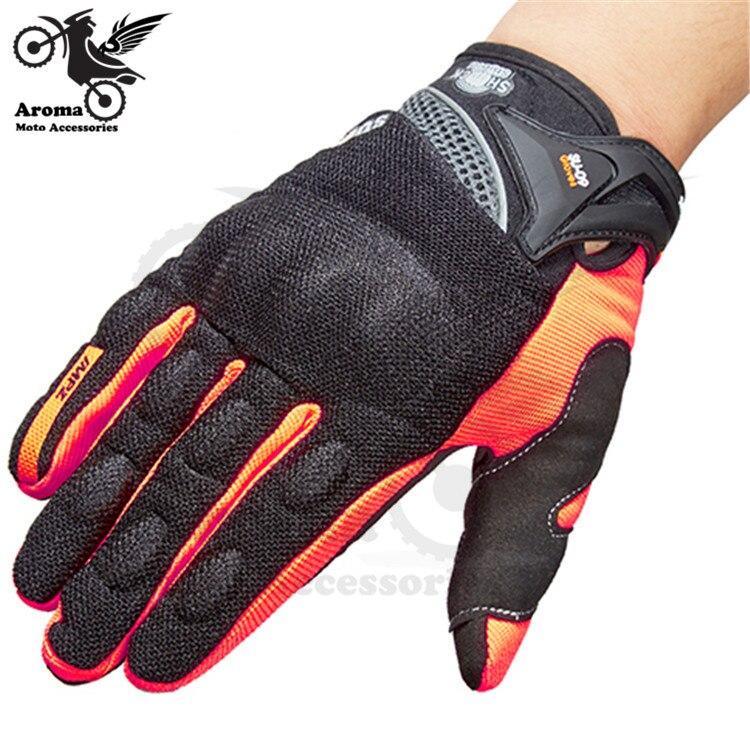 3 couleurs disponibles noir orange vert moto protéger pit bike gants écran aïe motocross guantes luvas pour KTM moto gant
