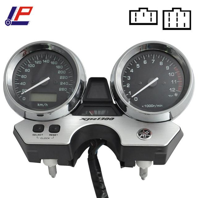 Motocicleta Velocímetro Gauges Cluster 260 km/h Para XJR1300 XJR 1998 2002-1300 98 99 00 01 02 Tacômetro Odômetro instrumento NOVO