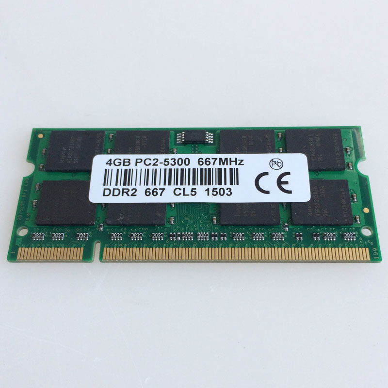 4GB PC2-5300S DDR2-667 667Mhz DDR2 Laptop Memory  CL5.0 SODIMM Notebook RAM Non-Ecc 200pin  2RX16 Low density