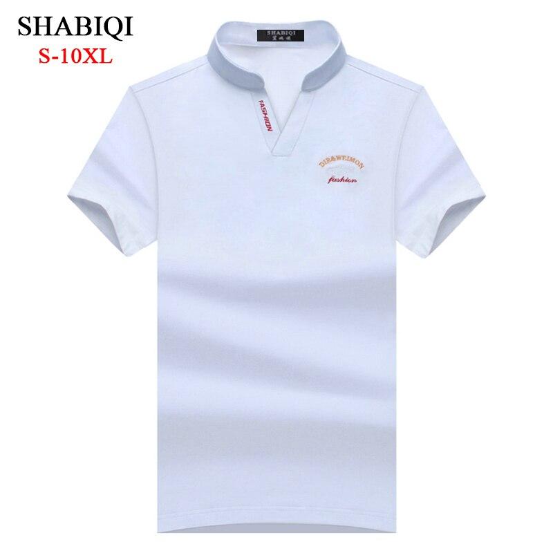 SHABIQI Nouvelle Marque Hommes de Polo de Marque Hommes D affaires et  Solide Casual Hommes de ... 75fb95f1a46