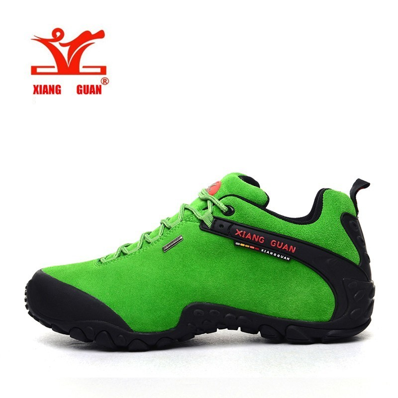 XIANGGUAN Perempuan Hiking Shoes Waterproof Outdoor Climbing Pelatih Athletic Wanita Skid Tarik Trekking Kasut Kasut Bernafas