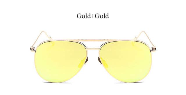 ddac5d0fed6e Online Shop Good Quality Flat lens famous italy Brand Pilot Mirror Designer  Sunglasses Women or Men Sun glasses Lady Newest Fashion 2017