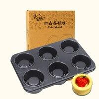 New arrival nặng duty thép cupcake khuôn, đôi sử dụng cupcake shaped cake pan, kích thước trung bình 3d cupcake baking pan, 6 cup tin