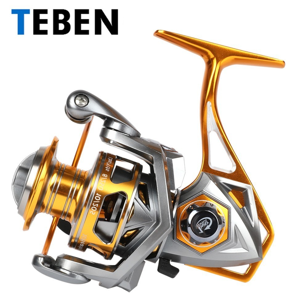 2018 Teben Original Saltwater Metal Body Fishing Spinning Sea Reel 5.2:1 Gear Ratio10BB 15-20KG Max Drag EVA Handle Reel Crap