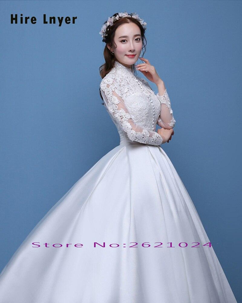 Aliexpress.com : Buy Najowpjg Custom Made Vestido Novia High Neck ...