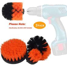 SITAILE 3Pcs Car Tire Electric Drill Brush Cleaning for Wheel Hub Detailing Quick Change Shaft Auto Kit