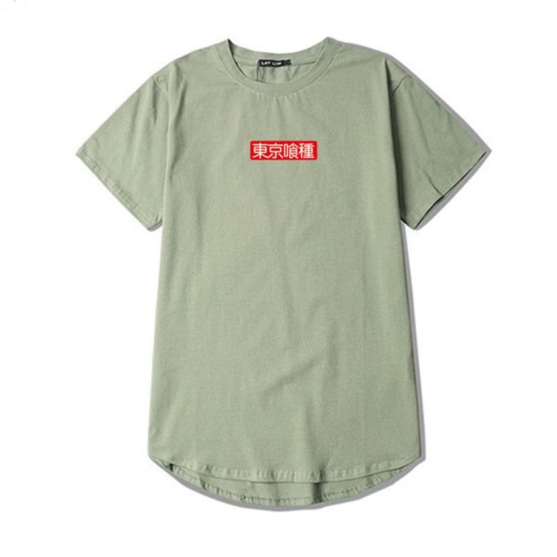 Summer High Street T Shirt Men Tokyo Ghoul T-Shirt Men Women Cosplay Funny Print Tshirt Supre Box Logo Harajuku Length Anime Tee