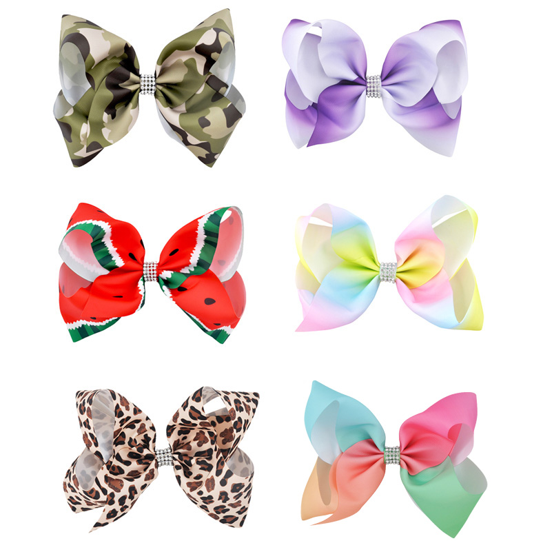 NEW FABRIC HAIR BOW W//Alligator Clip Handmade*FREE SHIPPING USA Insects Bugs