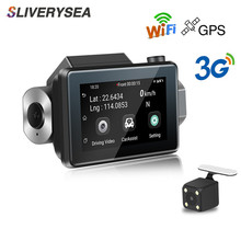 SLIVERYSEA 3G Car DVR GPS WiFi Android Full HD 1080P Camera Dual Lens Parking Rearview Mirror Video Recorder