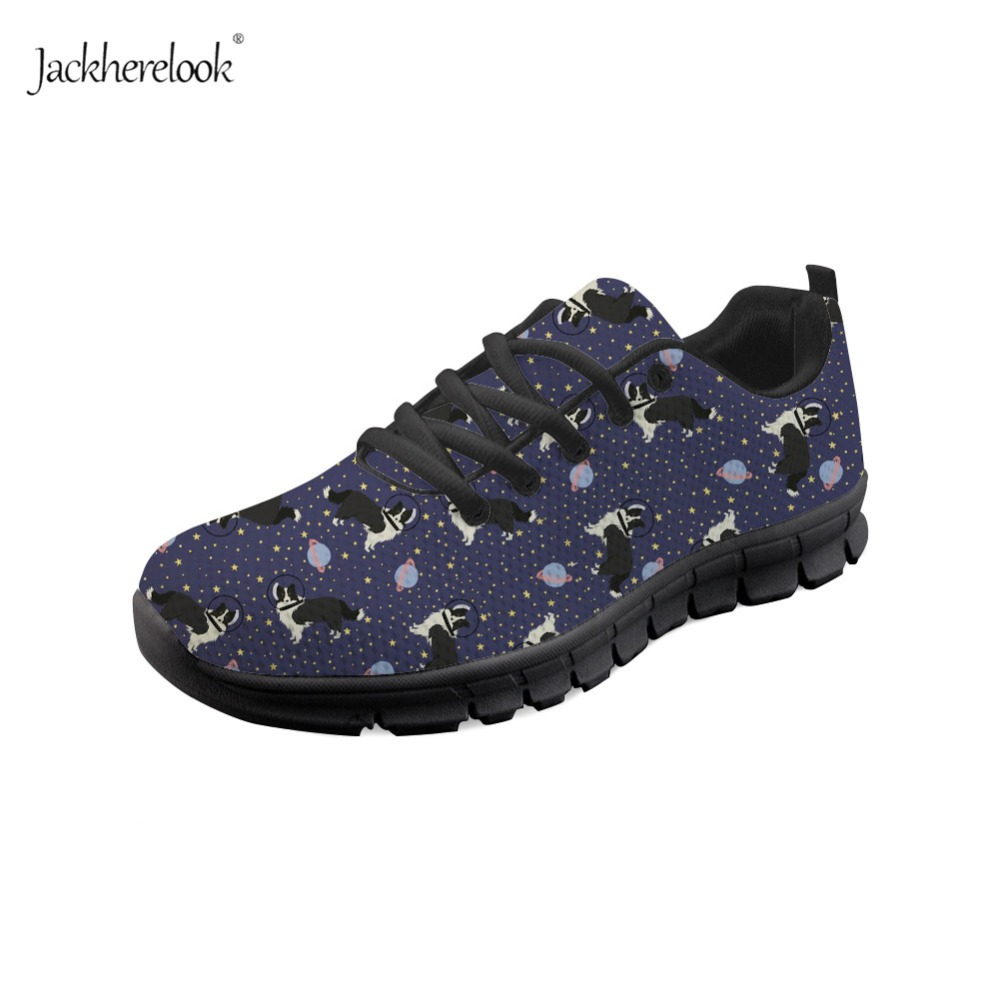 Sports & Entertainment Running Shoes Frugal Jackherelook Breathable Running Shoes Women Sneakers 3d Space Border Collie Print Air Mesh Outdoor Sport Shoes Zapatillas Mujer