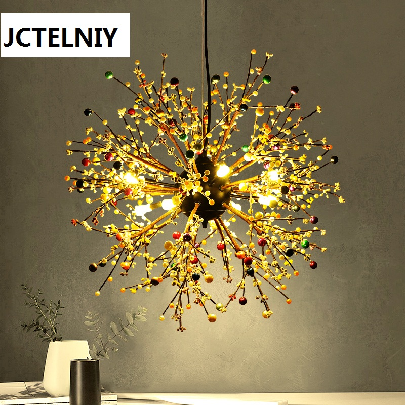 Personalized round ball pendant light american dandelion fashion led decoration Dia80/60cm