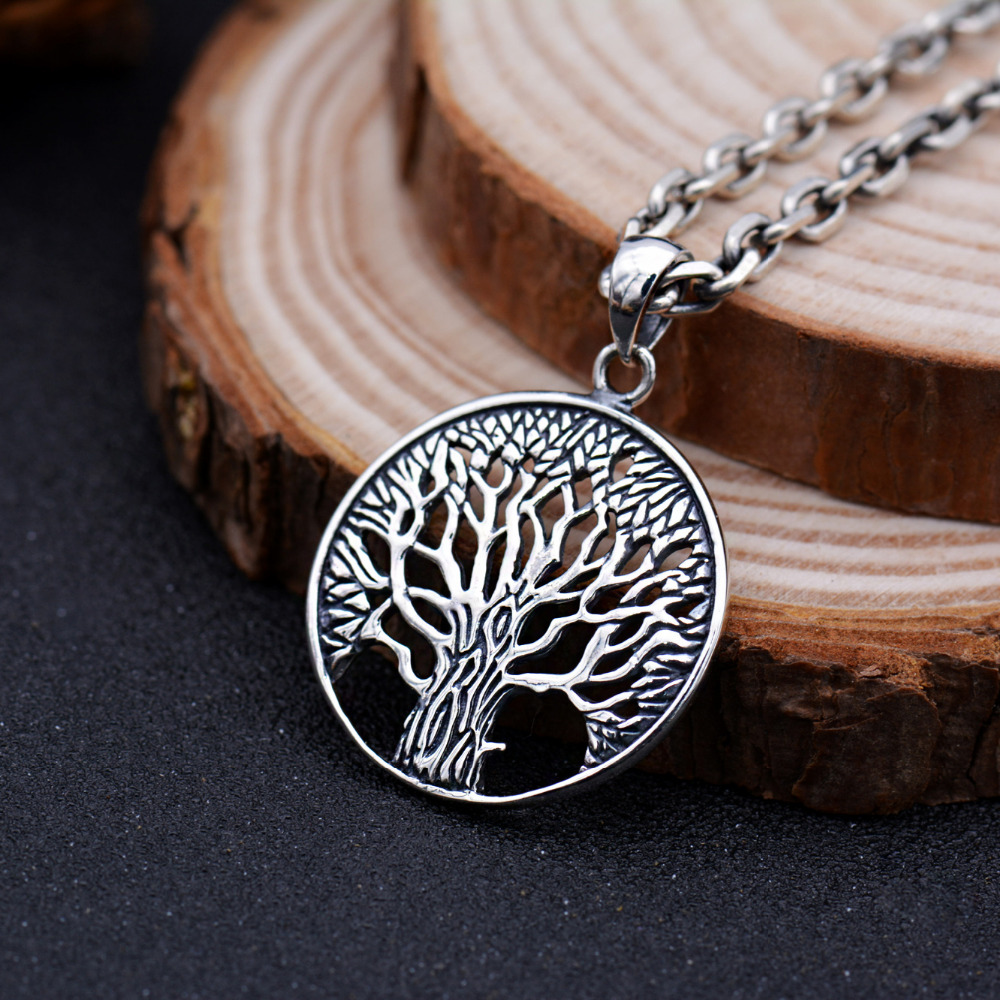 S925 solid thai silver tree pendants for necklace men jewelry 100 s925 solid thai silver tree pendants for necklace men jewelry 100 real pure genuine 925 sterling silver pendant cp17 in pendants from jewelry accessories aloadofball Gallery