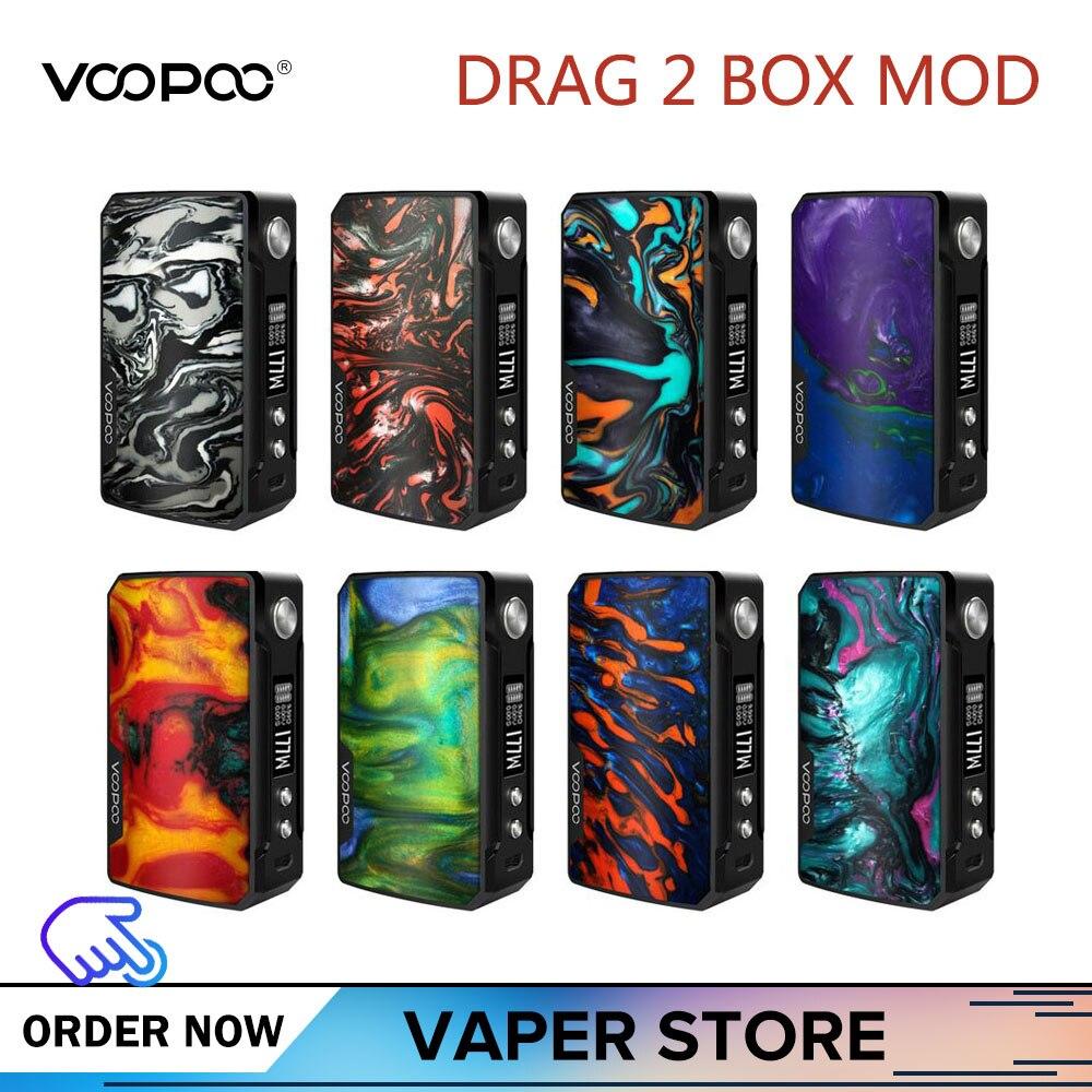 Original VOOPOO glisser 2 boîte Mod 177 W glisser 2 résine Vape Mod vaporisateur de Cigarette électronique Vs 117 W glisser Mini boîte Mod