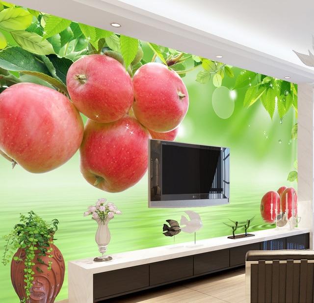 Restaurant Kitchen Wallpaper aliexpress : buy beibehang fresh fruit custom kitchen