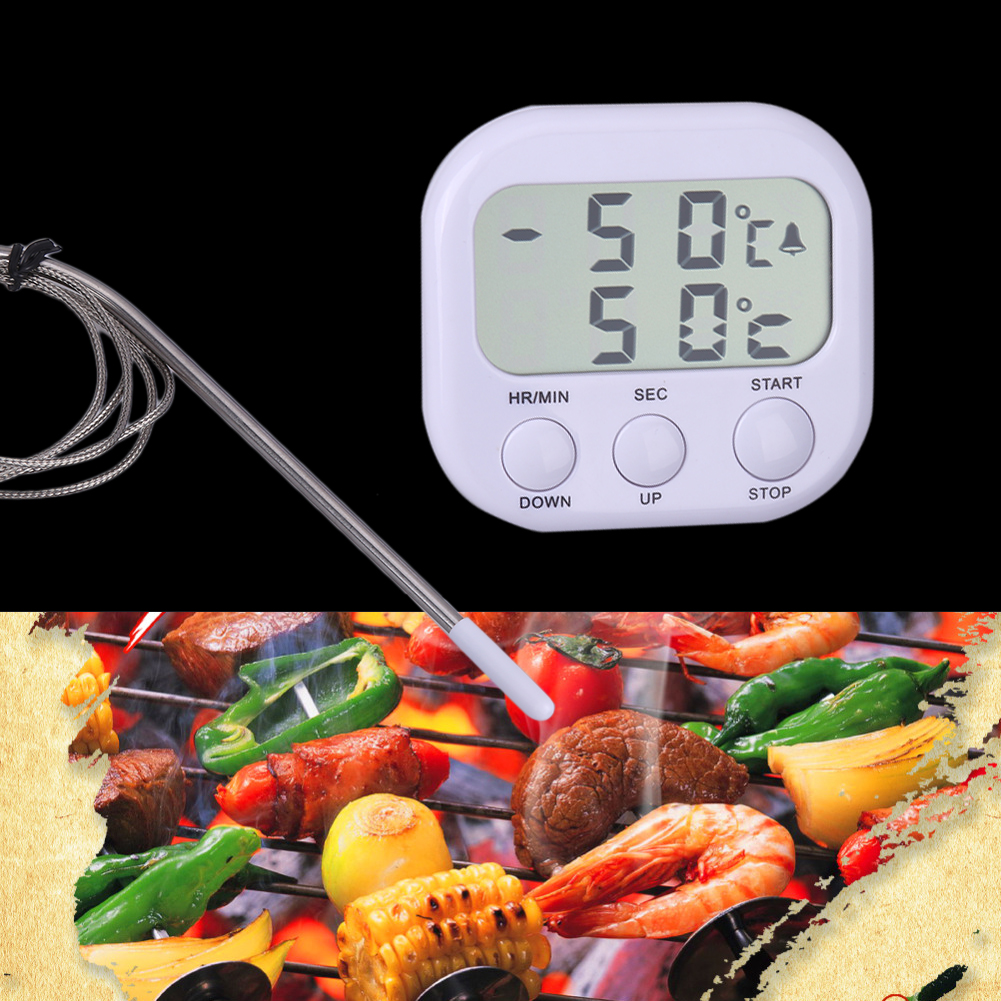 de calidad superior in lcd digital termmetro para la parrilla de barbacoa de horno de