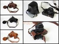 PU Leather Camera Case Bag Cover Bottom Opening For Canon EOS M6 EOSM6 Camera easy take out of battery