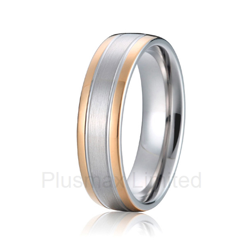 Best China jewelry factory plain simple fashion finger ring cheap pure titanium men wedding band simple plain pillow 1pc