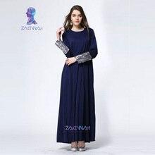10013  muslim abaya dress islamic clothing for women sequins long sleeve dubai abaya hijab long dress turkish clothes caftan