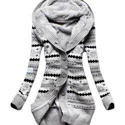 2019 Europa América mulheres novo casaco de inverno de espessura de veludo com capuz de malha casaco cardigan casacos longos slim roupas vestidos LBD1902