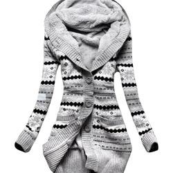 Jaqueta feminina casaco de inverno mulher 2019 lã de veludo grosso com capuz malha quente magro casacos roupas compridas vestidos lbd1902