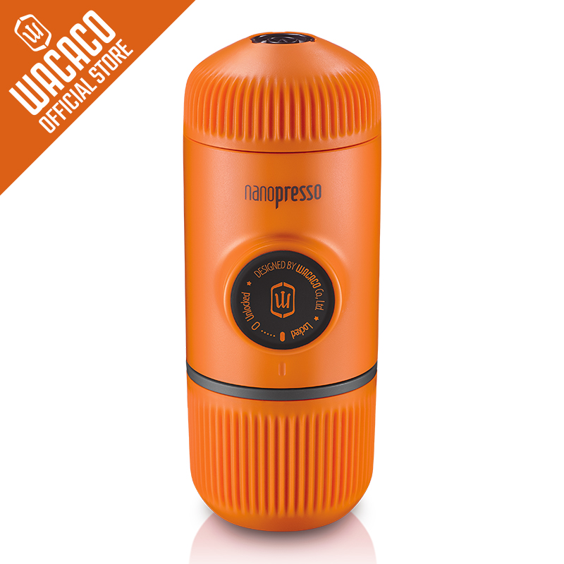 Wacaco Nanopresso Portable Espresso Maker,Coffee Machine ,Upgrade Version of Minipresso, 18 Bar Pressure, Orange Patrol Edition. title=
