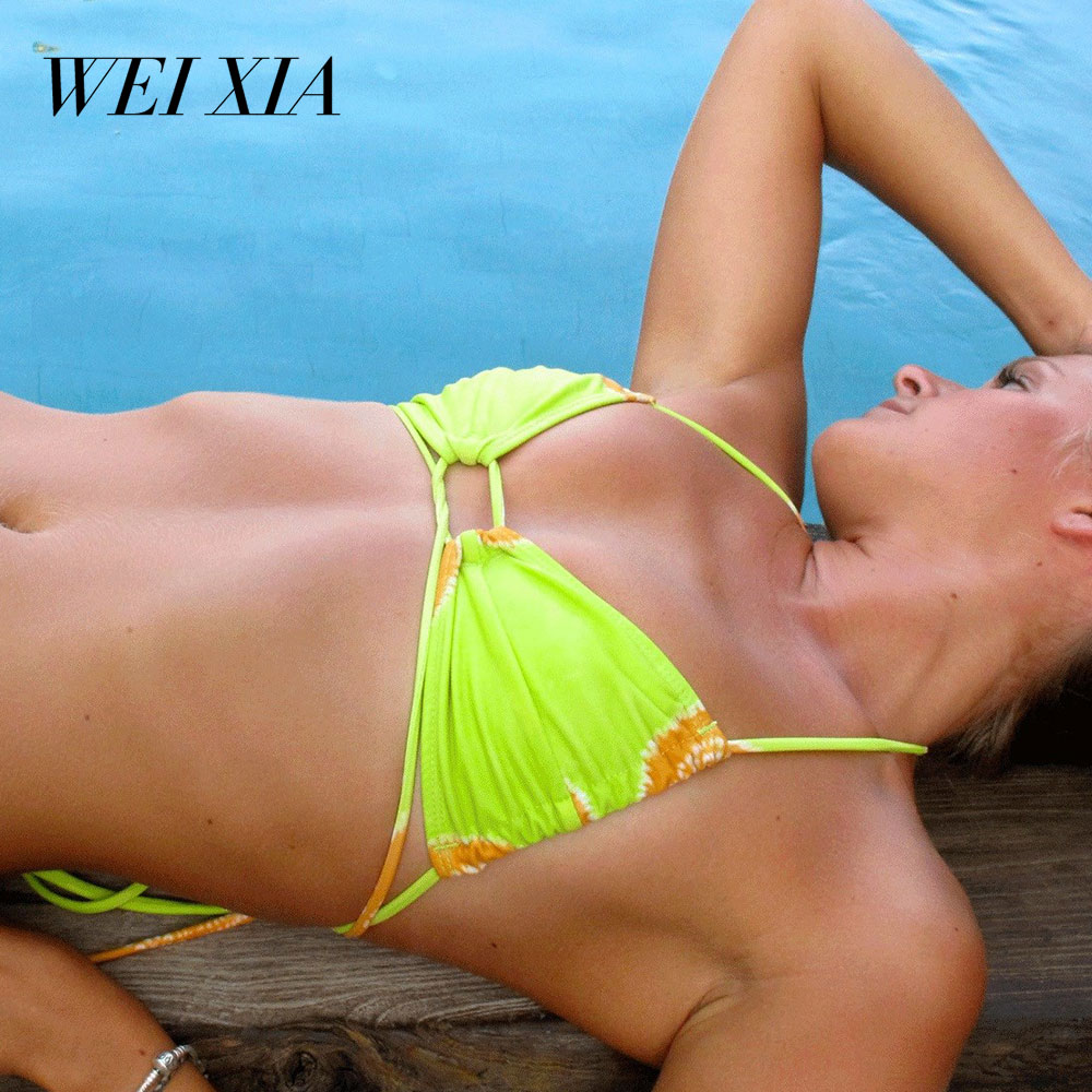WEIXIA NEW Arrival 2018 Beautiful Show Women Bikini 9042 Swimwear Swimsuit Brazilian Beach Wear