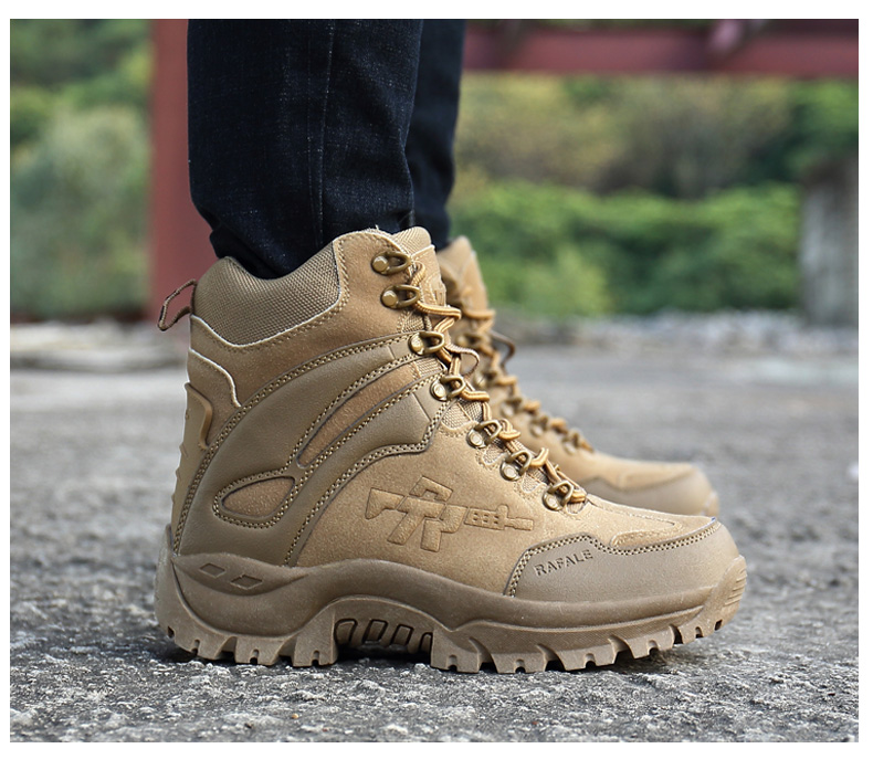Brand Men's Boots Military boot Chukka Ankle Bot Tactical Big Size Army Male Shoes Safety Combat Mens Motocycle Boots (16)