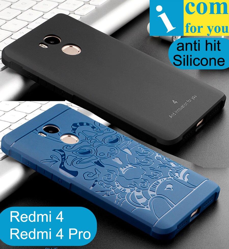 cocose Drop resistance Armor anti hit Silicone Case For Xiaomi Redmi 4 Pro 3D carved Dragon Cover For Redmi4 Prime 5.0 5 inch