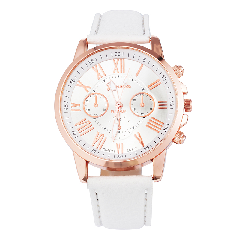 FUNIQUE Fashion Geneva Watches Women PU Leather Ladies Dress Gold Quartz Watch 2017 Hot Sale Wristwatches For Girls Clock Gift hot sales geneva brand silicone watches women ladies men fashion dress quartz wristwatches relogio feminino gv008
