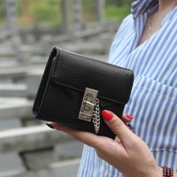 Fashion Litchi Stria Pu Leather Women Wallet Solid Short Women Purse Female Brand 2016 Wallet For