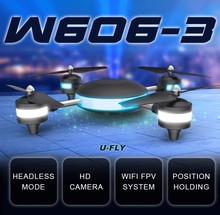 Altitude Hold HUAJUN U-FLY W606-3 U-FLY 4CH 2.4G 5.8G FPV RC Quadcopter with 2.0 MP camera 3D Roll rc Quadcopter Toys vs Q333-A
