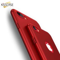 KISSCASE huile mat couverture rigide pour iPhone 8 7 6 s 5 étui pour iPhone 7 6 6 s 7 Plus 5 s 5 SE étui accessoires de téléphone de luxe Conque nouveau