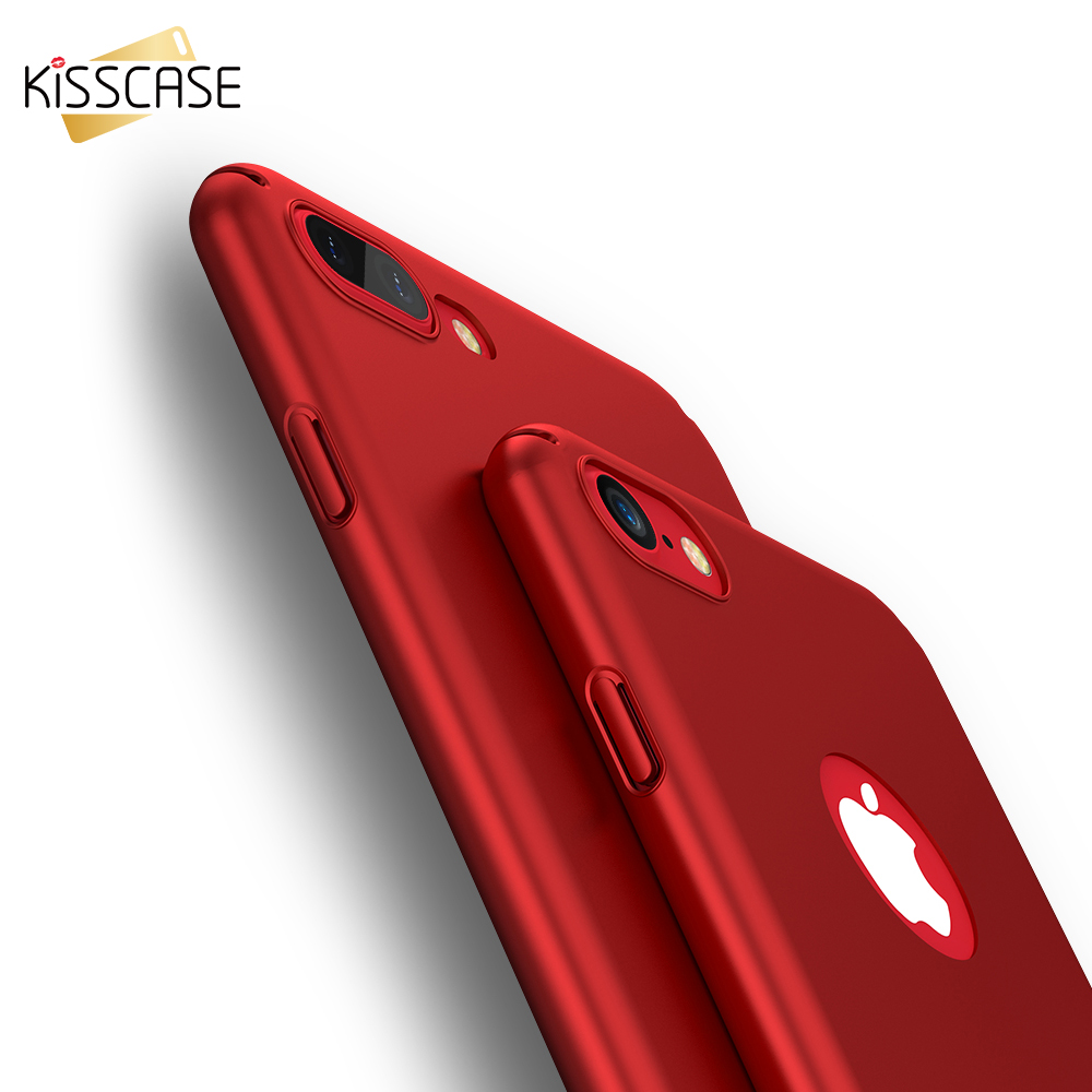 KISSCASE Oil Matte Hard Cover for iPhone 8 7 6s 5 Case for iPhone 7 6 6s 7 Plus 5s 5 SE Ca